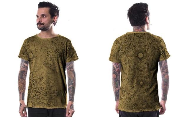 T-Shirt Overtones musterd Plazmalab Streewear Psywear Ambidexter