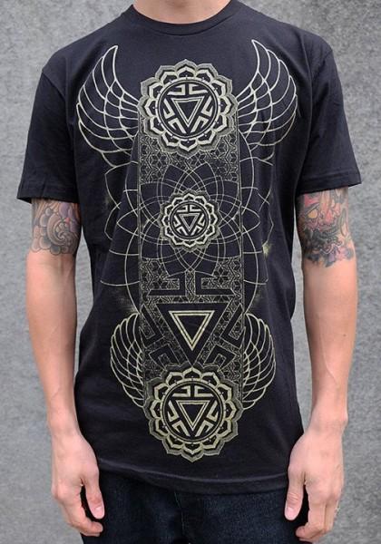T-Shirt Manipura Chakra schwarz
