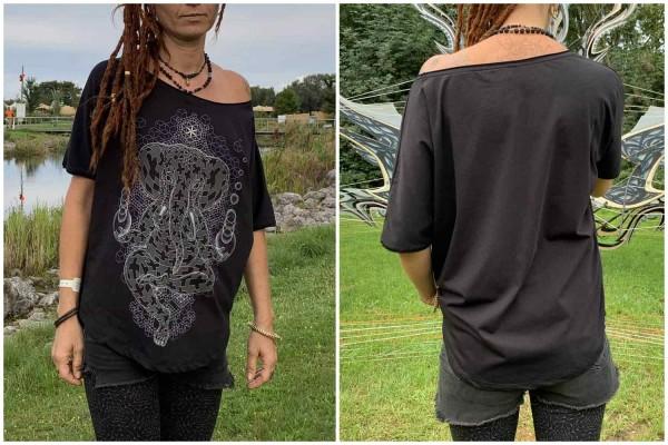 T-Shirt Women Ganesher schwarz