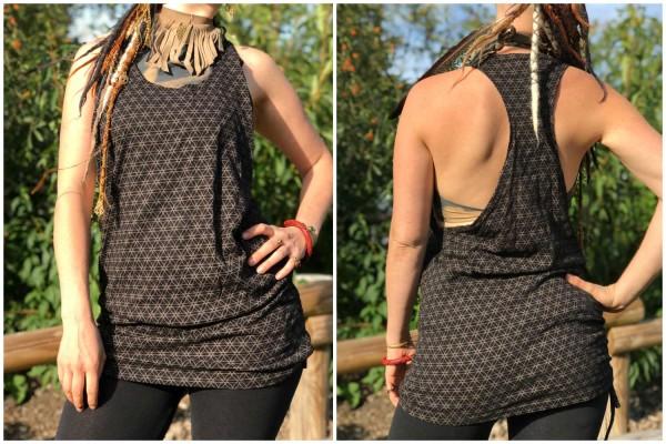 Tank Kleid Afrika black&brown