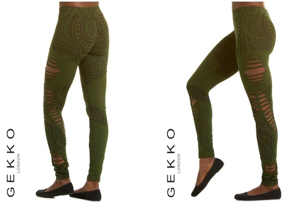 Leggins Pattern olive