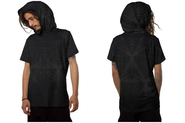 T-Shirt TANSO black Plazmalab Streewear Psywear uv aktiv