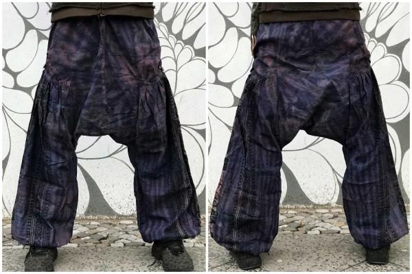 Haremshose dark purple batik
