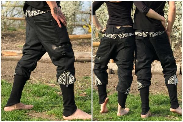 Hose Strips schwarz (Wolle)