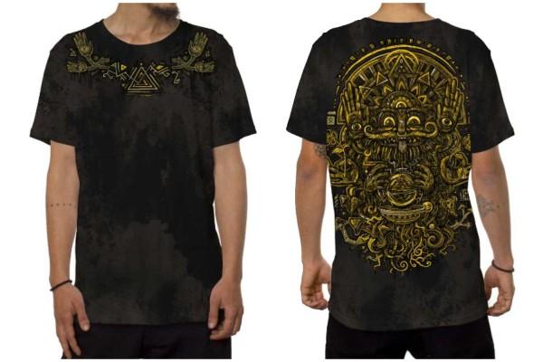 T-Shirt MAGI aqua schwarz