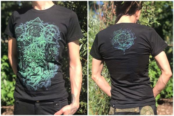 T-Shirt SENSEI BLACK Plazmalab Streewear Psywear uv aktiv