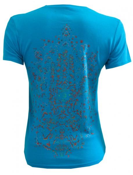 Shirt Dhamapa hellblau Motiv hinten