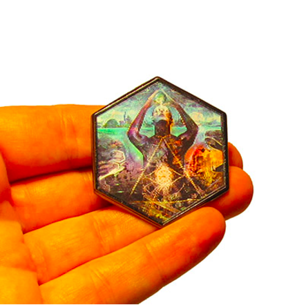 Hologramm Anstecker THE HUSTLE