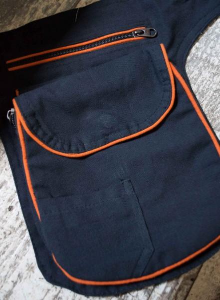 Gürteltasche schwarz orange grosse Tasche