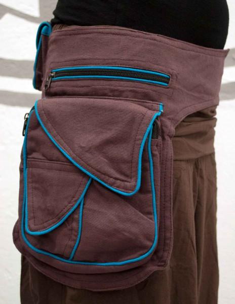 Gürteltasche braun grosse Tasche