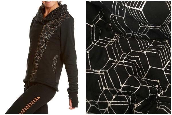 Pullover Honeycomb schwarz silber