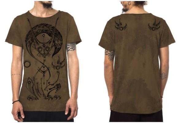 T-Shirt TAILZ OCEAN MOKKA TEXTURE