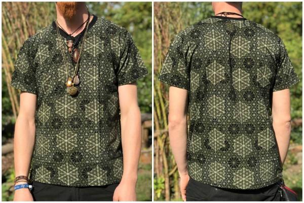 T-Shirt Hexagon FOL schwarz grün