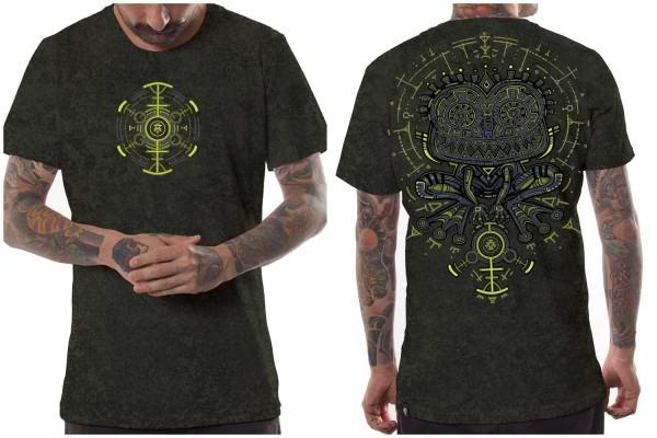 T-Shirt Psychotoad olive texture