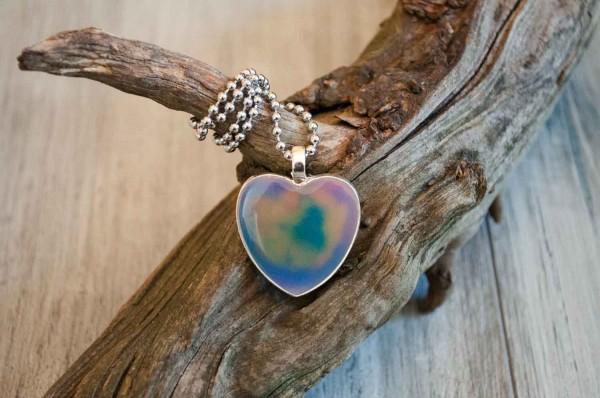 Kette Herzen Space lila blau