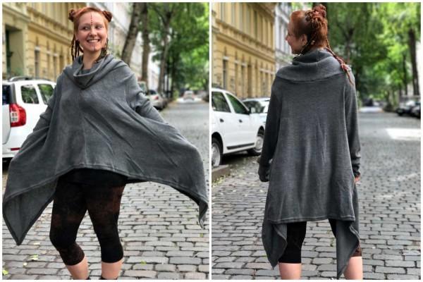 Pullover Oversize grau