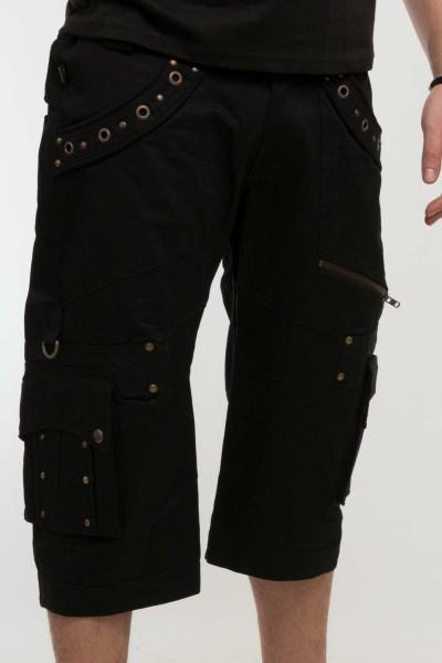 Hose kurz Artax Nieten schwarz