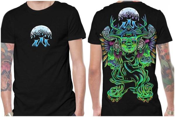 T-Shirt Mana schwarz