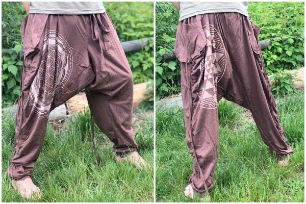 Hose Samurai FOL crop cyrcle - brown