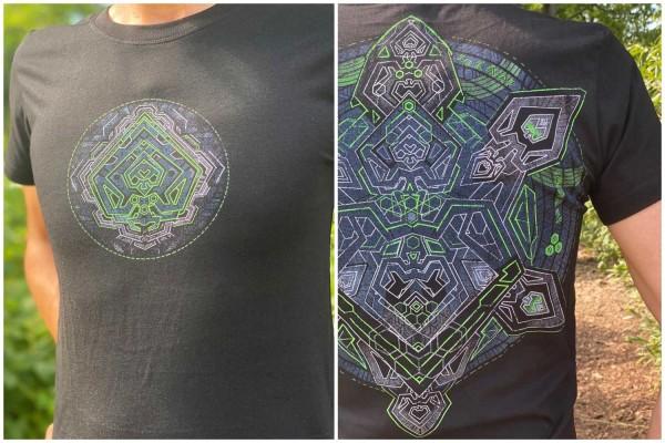 T-Shirt DIGITURTLE BLACK Plazmalab Streewear Psywear uv aktiv