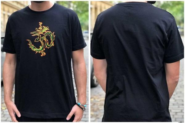 T-Shirt AUM schwarz ● orange-gelb uv aktiv