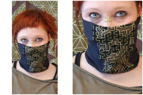 Dust Maske shipibo schwarz