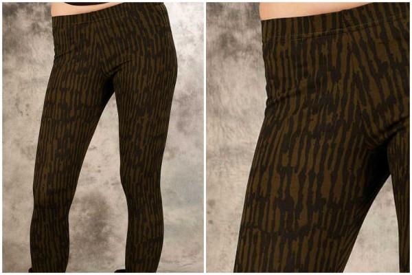 Leggings ✳ Rak olive/schwarz