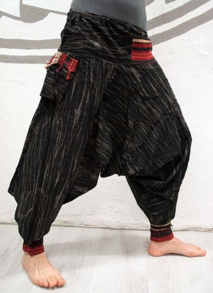 Haremshose Thaistil Streifen