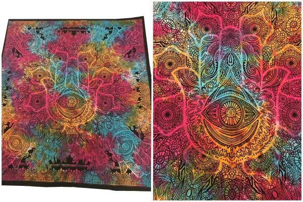 Wandtuch Hand der Fatima batik bunt