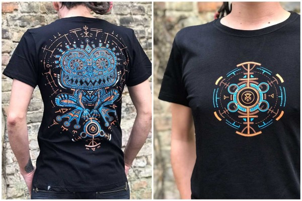 T-Shirt Psychotoad schwarz Plazmalab Streewear Psywear