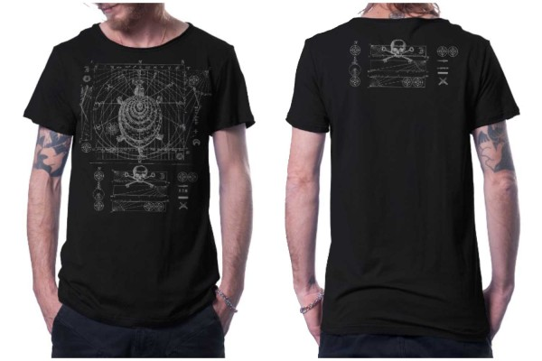 T-Shirt Compas schwarz