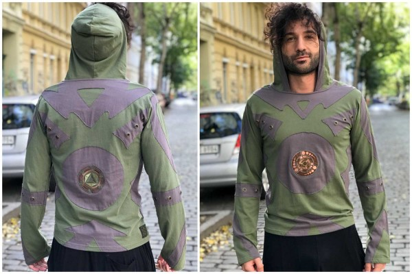 Longsleeve Patch Bubble olive