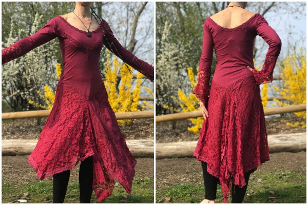 Kleid ForestPixie rot