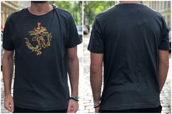 T-Shirt AUM khaki ● orange-gelb uv aktiv