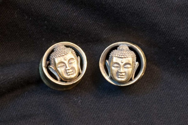 Plugs Buddha golden Ø 16mm