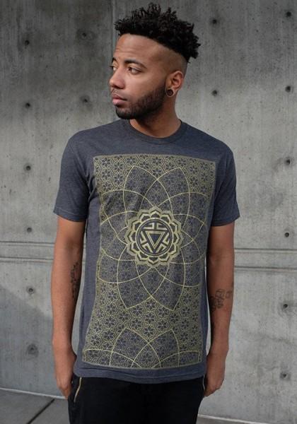 T-Shirt Vitality gold grau