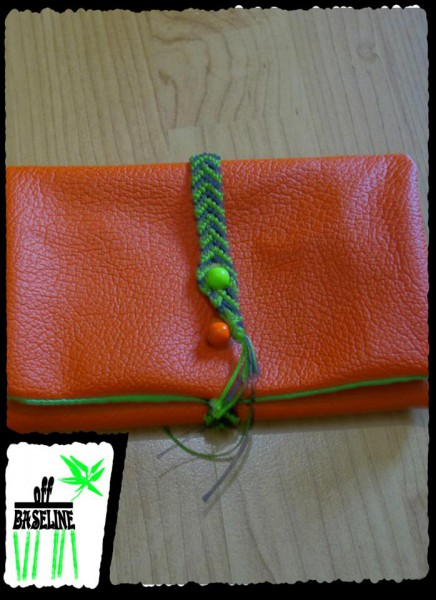 Tabaktasche Kunstleder orange