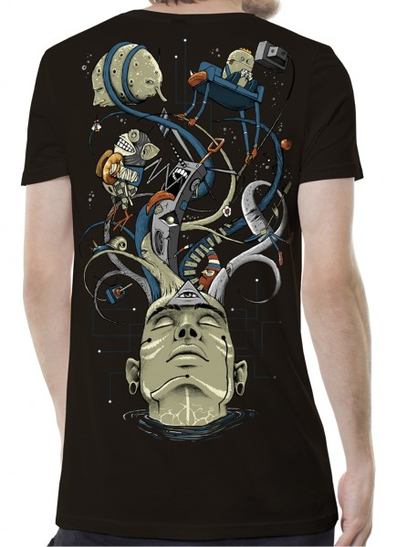 T-Shirt My Mind braun
