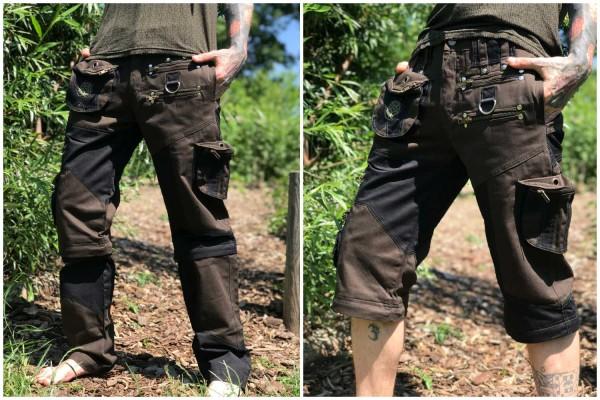 Hose Rangan schwarz khaki