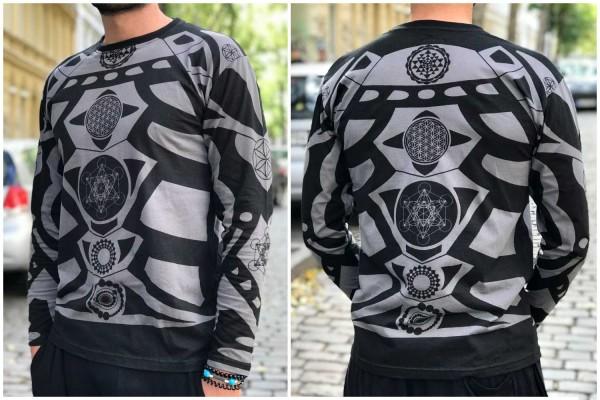 Longsleeve Sacred Geometry schwarz