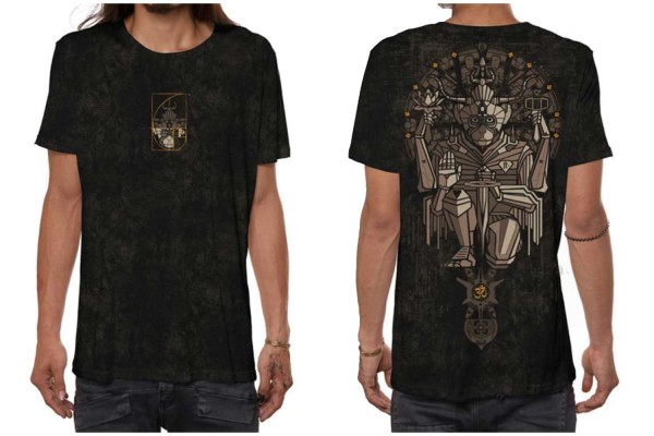 T-Shirt HANUMAN BLACK RUST WASH