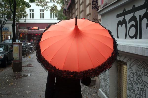 Schirm uv orange
