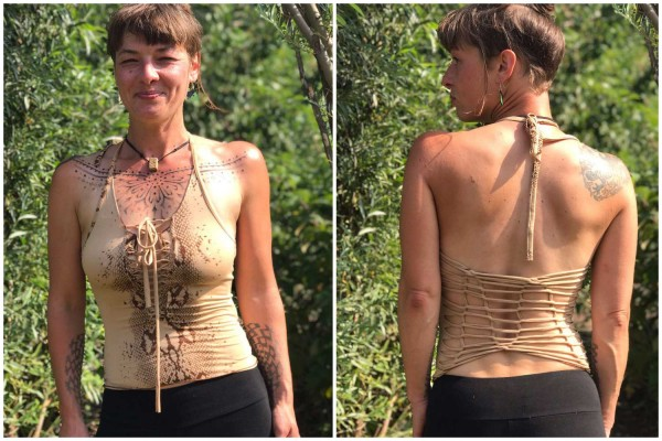 Top Sexy Snake beige von Flower of Life by Pleiadian