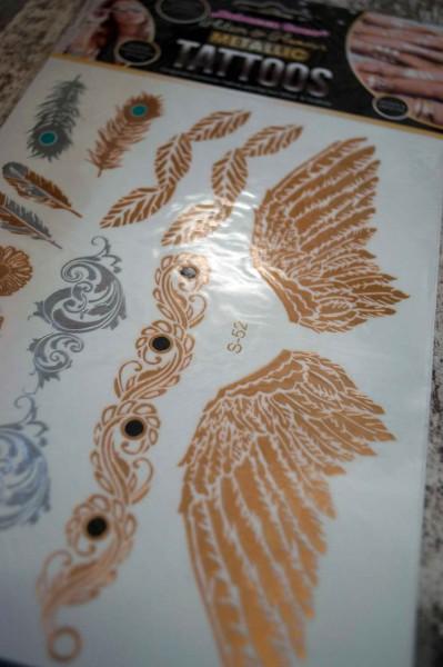 Metallic Tattoo Flügel UV