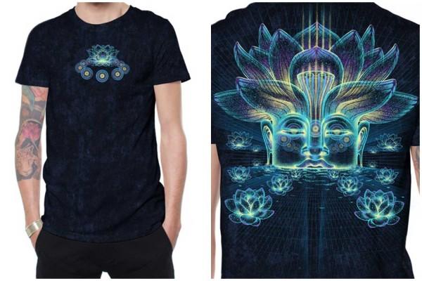 T-Shirt Sita Kamala schwarz galaxy wash