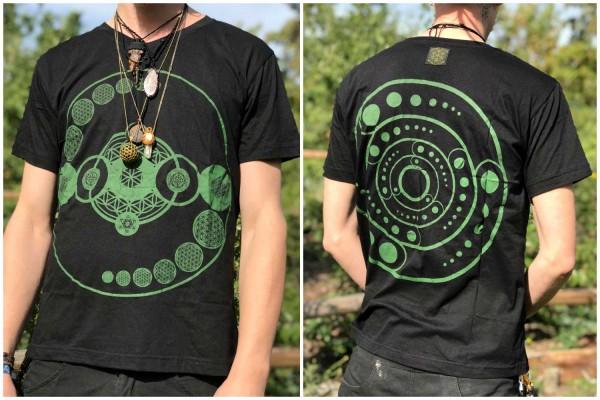 T-Shirt Crop Circle schwarz grün