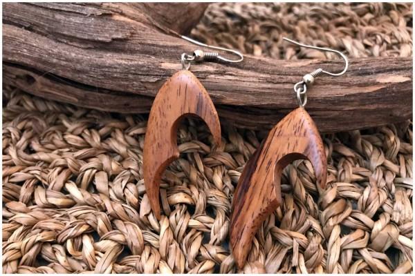 Ohrringe 14 Wood