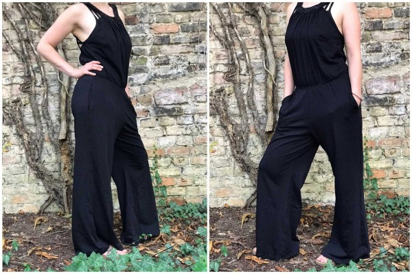 Jumpsuit seventies style black Goa Gekko London