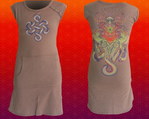 Kleid Infinity Dragon grau