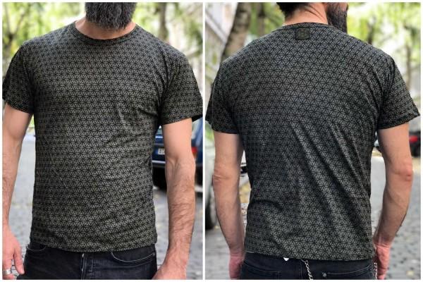 T-Shirt Flower of Life olive